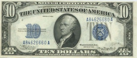US$10 Silver Certificate