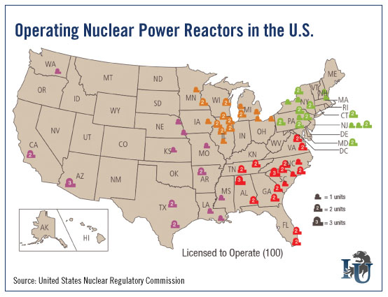 US Operating Nuclear Power Reactors