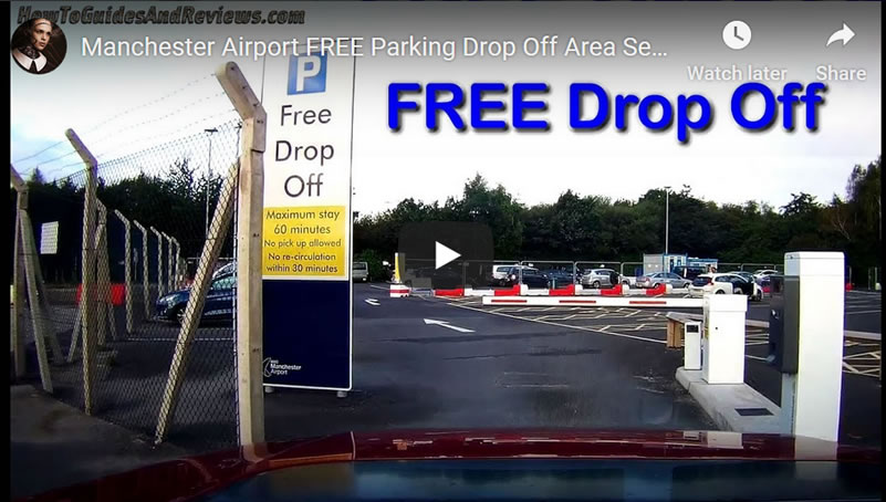 Manchester Airport FREE Drop Off Area Service at JetParks 1 - Video