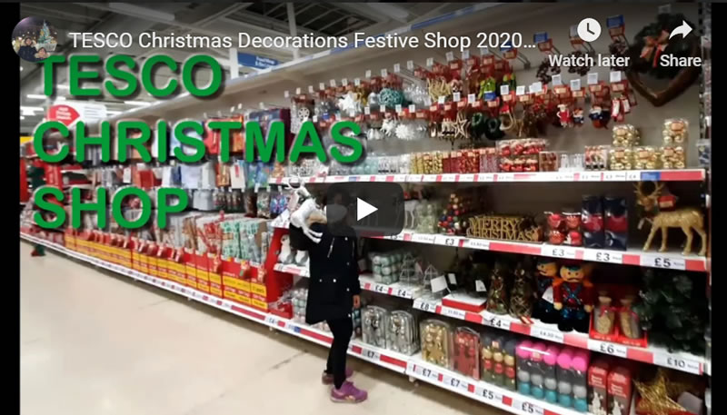 TESCO Christmas Decorations Festive Shop 2020 - How to Beat the Coronavirus Economic Depression