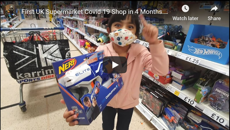 UK Supermarket Covid-19 Shop - Few Masks, Lack of Social Distancing (Tesco)