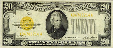 US$20 Gold Certificate