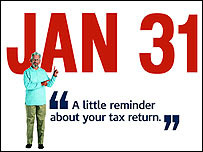 UK Tax 2006-07 Self Assessment Tax Return Filing Deadline - 31st January 2008